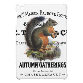 modern vintage fall squirrel iPad mini cases