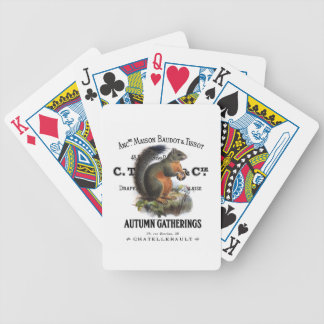 modern vintage fall squirrel card decks