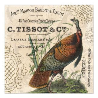 modern vintage fall wild turkey custom announcement