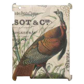 modern vintage fall wild turkey iPad cases