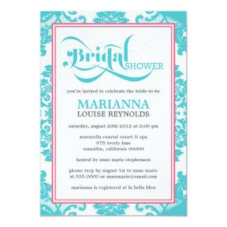 Modern Vintage Filigree Bridal Shower Invitation