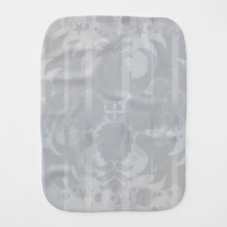 Modern Vintage Floral Silver Grey Pattern Baby Burp Cloth