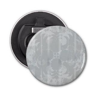 Modern Vintage Floral Silver Grey Pattern Bottle Opener