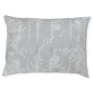 Modern Vintage Floral Silver Grey Pattern Pet Bed