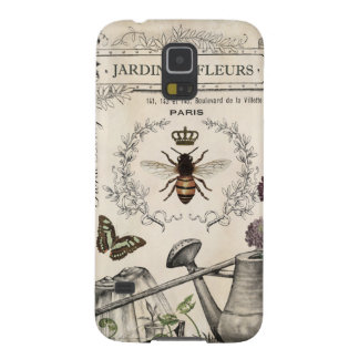 Modern Vintage French Bee garden Cases For Galaxy S5