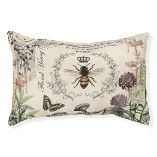 Modern Vintage French Bee garden Pet Bed
