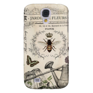 Modern Vintage French Bee garden Samsung Galaxy S4 Covers