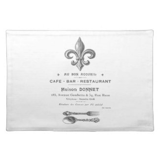 MODERN VINTAGE FRENCH BISTRO PLACEMATS