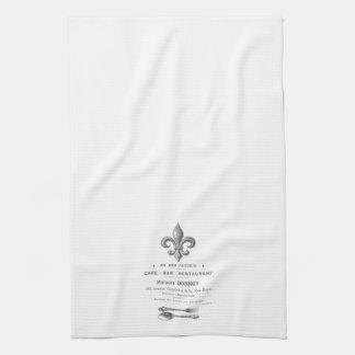 MODERN VINTAGE FRENCH BISTRO TEA TOWEL