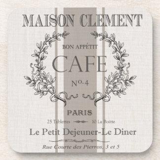 modern vintage french cafe drink coaster