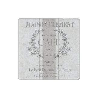 modern vintage french cafe stone magnet