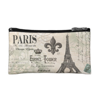modern vintage french Eiffel Tower Makeup Bag