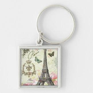 modern vintage french eiffel tower key chains
