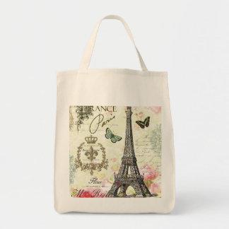 modern vintage french eiffel tower bag