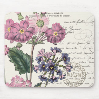 modern vintage french floral mouse pad