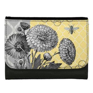 modern vintage french floral wallet