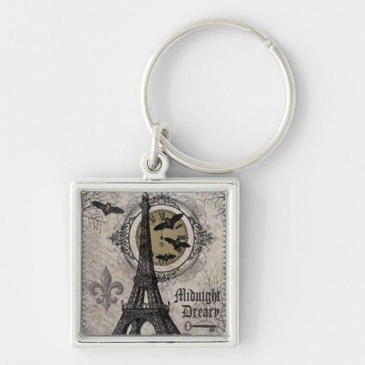 modern vintage french halloween Eiffel tower Key Chains