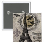 modern vintage french halloween Eiffel tower Pins