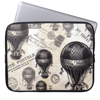 modern vintage French hot air balloons Computer Sleeve
