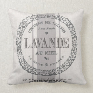 modern vintage French Lavender grain sac Cushion