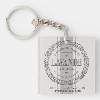 modern vintage French Lavender grain sac Key Ring