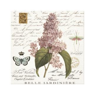 modern vintage French Lilacs Canvas Print