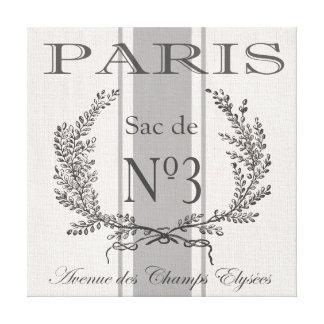 modern vintage french Paris grain sac Canvas Prints