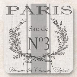 modern vintage french Paris grain sac Coaster