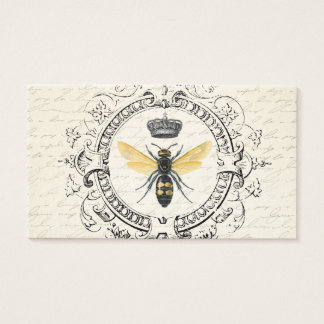 MODERN VINTAGE french queen bee Business Card