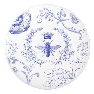 modern vintage french queen bee ceramic knob