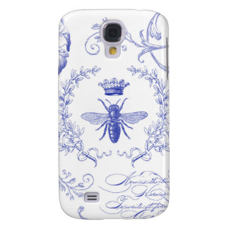 modern vintage french queen bee galaxy s4 cases