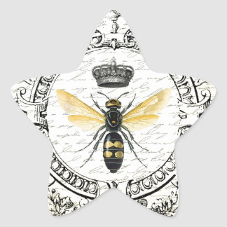 MODERN VINTAGE french queen bee Star Stickers