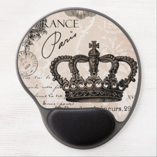 modern vintage french shabby chic crown gel mouse pad