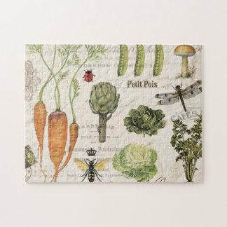 modern vintage french vegetable garden puzzle