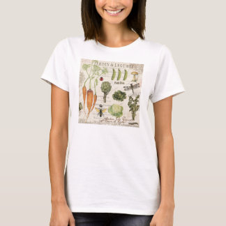 modern vintage french vegetable garden T-Shirt