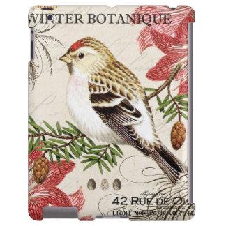 modern vintage french winter bird