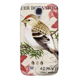 modern vintage french winter bird galaxy s4 case