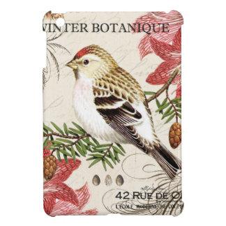 modern vintage french winter bird iPad mini case