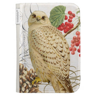 modern vintage french winter owl kindle keyboard covers