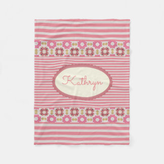 Modern, Vintage & Girly Fleece Blanket