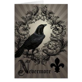 modern vintage halloween crow cards