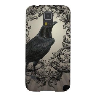 modern vintage halloween crow galaxy s5 cover