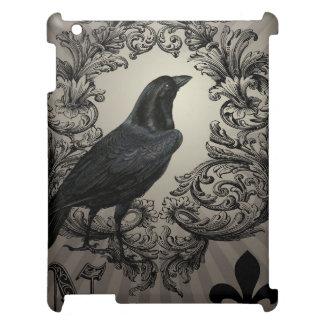 modern vintage halloween crow iPad covers