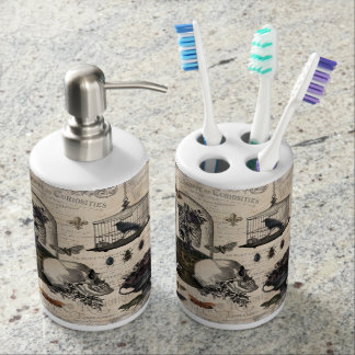 Modern Vintage Halloween Garden Bathroom Set