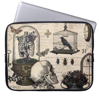 Modern Vintage Halloween Garden Laptop Sleeve