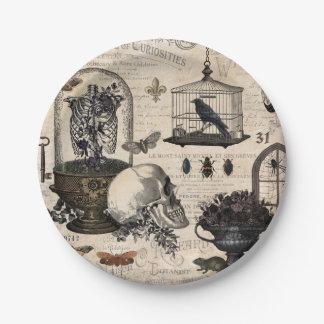 Modern Vintage Halloween Garden Paper Plate