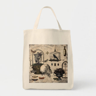 Modern Vintage Halloween Garden Tote Bag