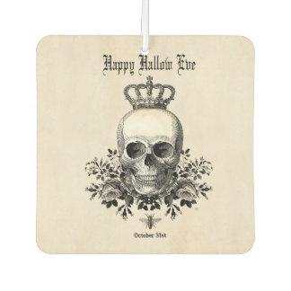 Modern Vintage Halloween skull and crown Car Air Freshener