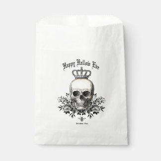 Modern Vintage Halloween skull and crown Favour Bag