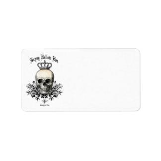 Modern Vintage Halloween skull label